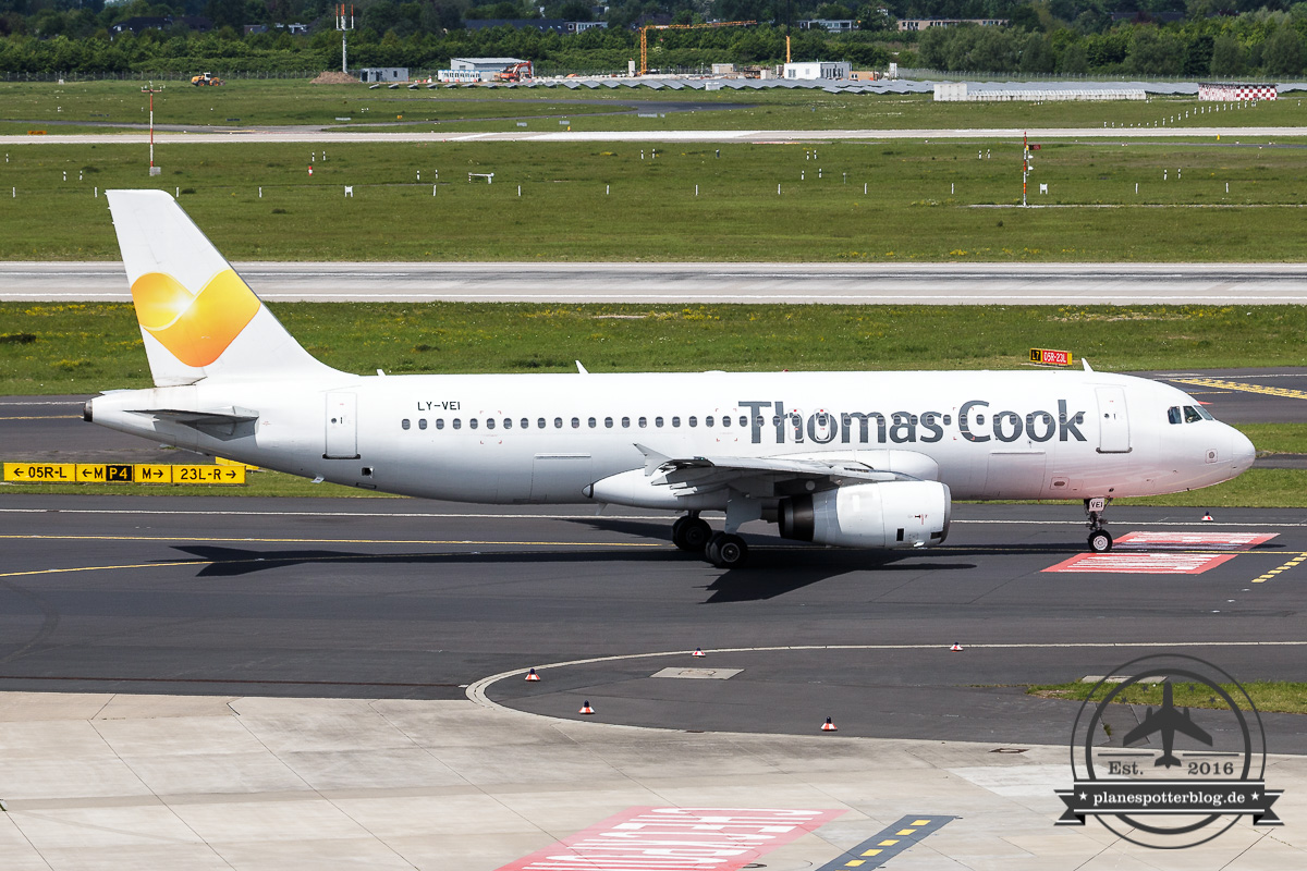 Avion Express A320-200 LY-VEI operated for Thomas Cook