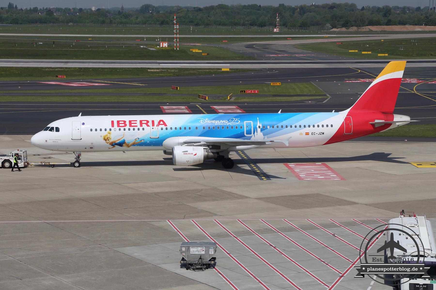 Iberia A321-200 EC-JZM Disneyland Paris Livery