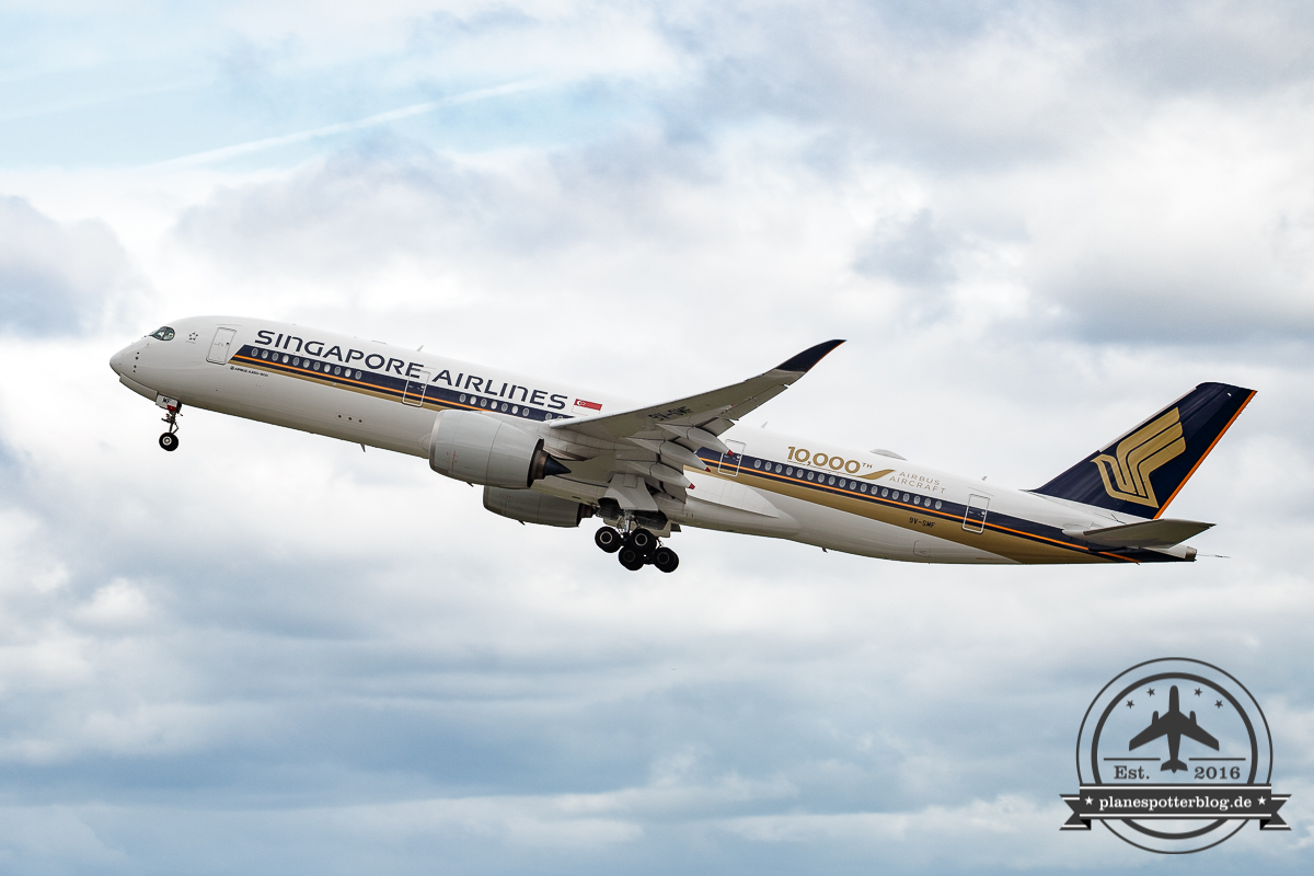 Singapore Airlines A350-900 9V-SMF 10.000th Airbus