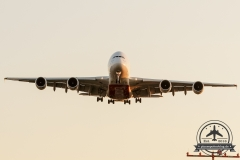 Emirates A380-800 A6-EDE Anflug 05R am Abend