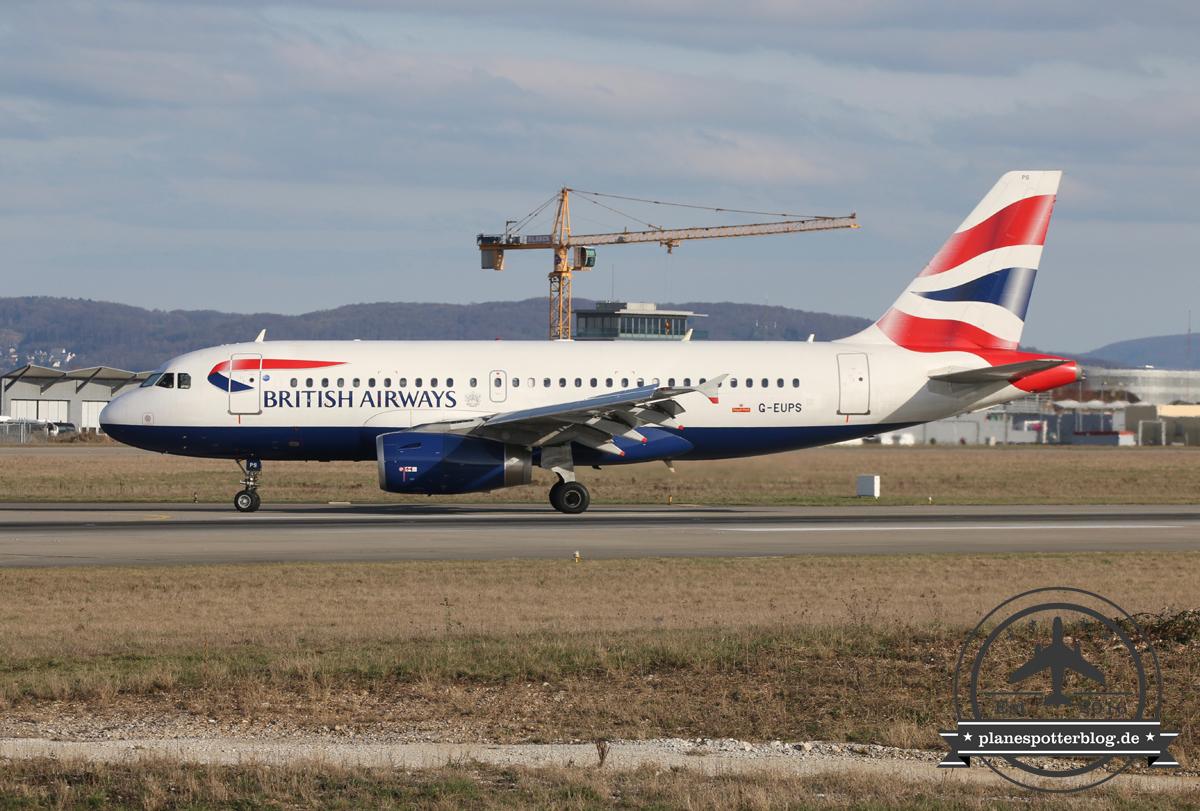 British Airways A319 G-EUPS