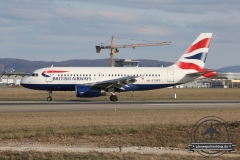 British Airways A319 G-EUPS