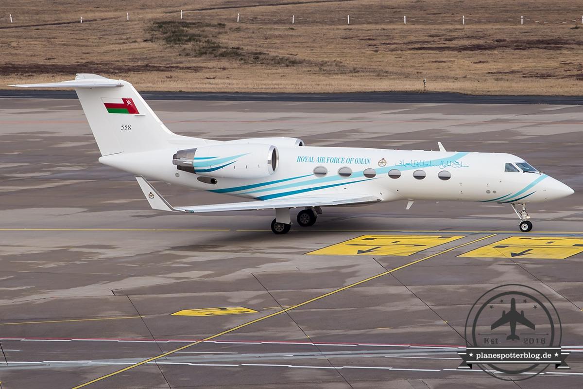 Gulfstream G450 Royal Airforce of Oman 558 G20 Außenministertreffen 2017