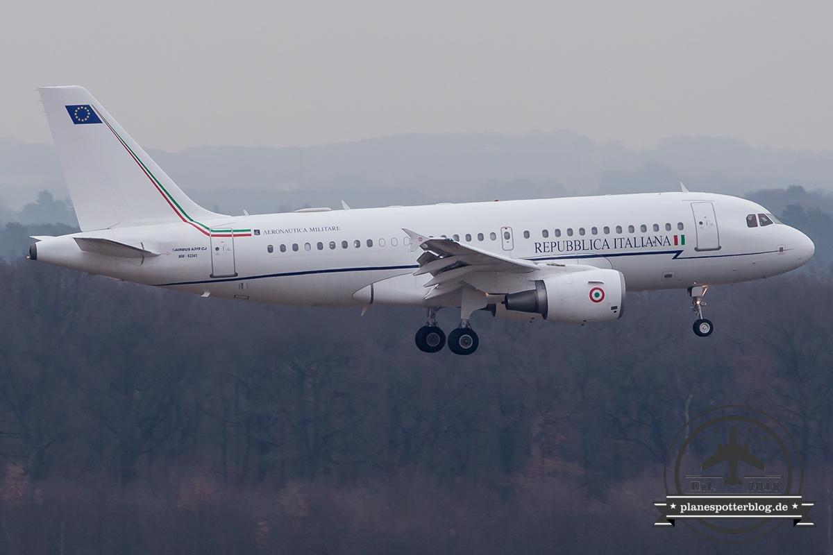A319CJ MM62243 Italienische Luftwaffe G20 Außenministertreffen 2017