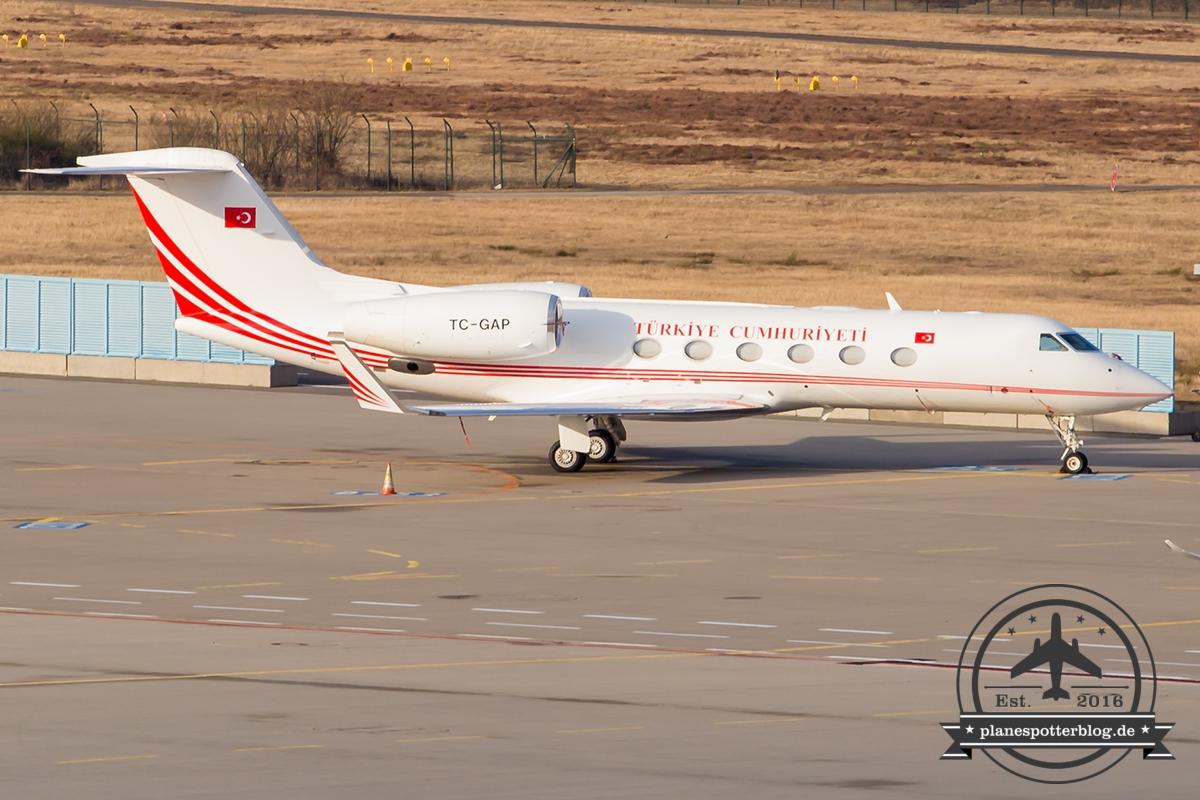 Gulfstream G450 TC-GAP Türkische Luftwaffe G20 Außenministertreffen 2017