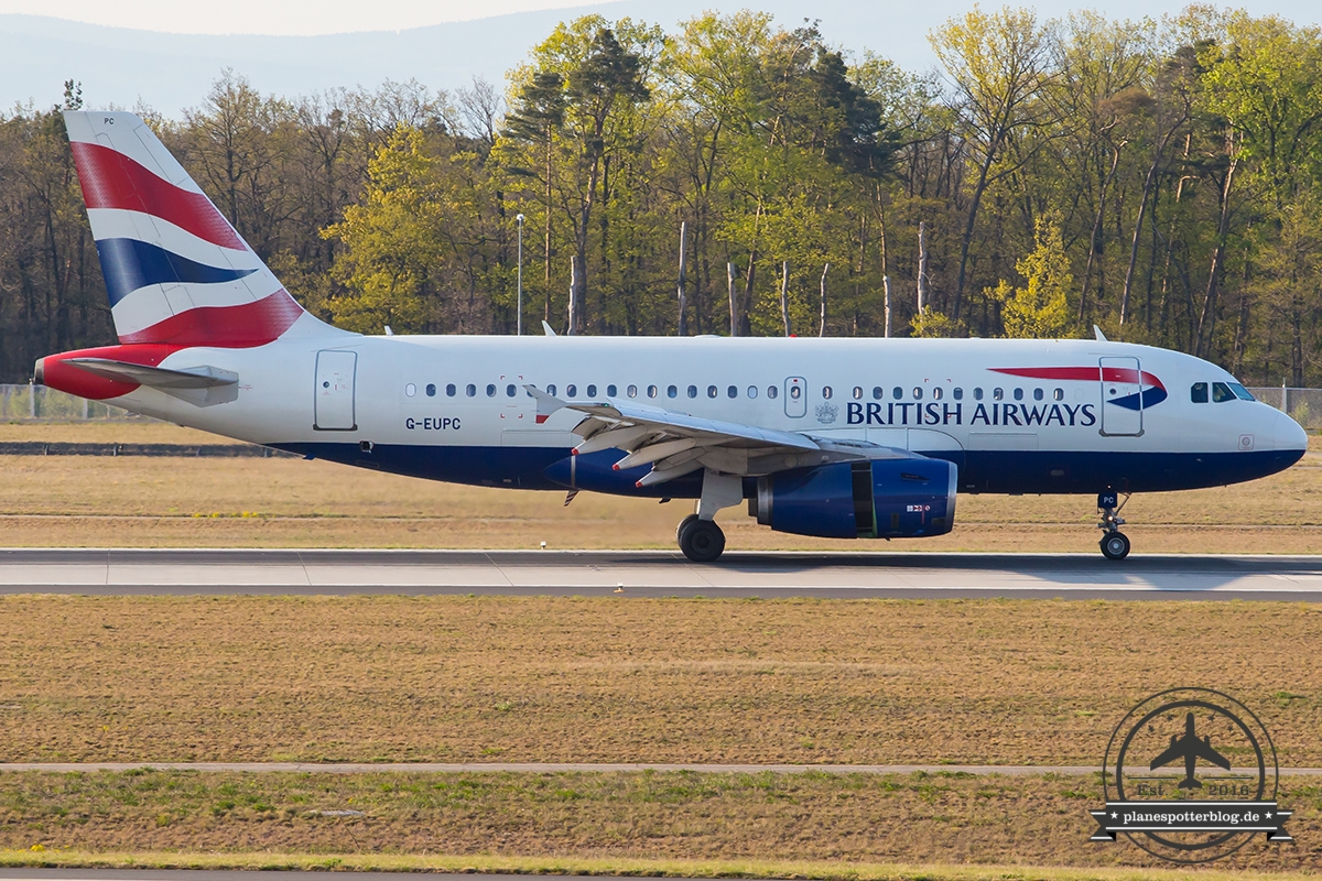 G-EUPC British Airways Airbus A319-131 - cn 1118