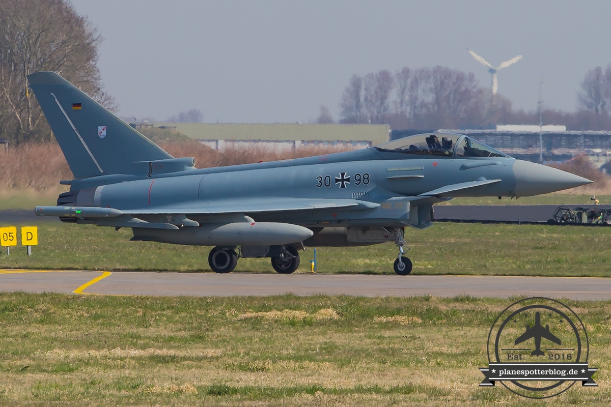 30+98 Eurofighter EF-2000 Typhoon S German Air Force (Luftwaffe) TaktLwG 31