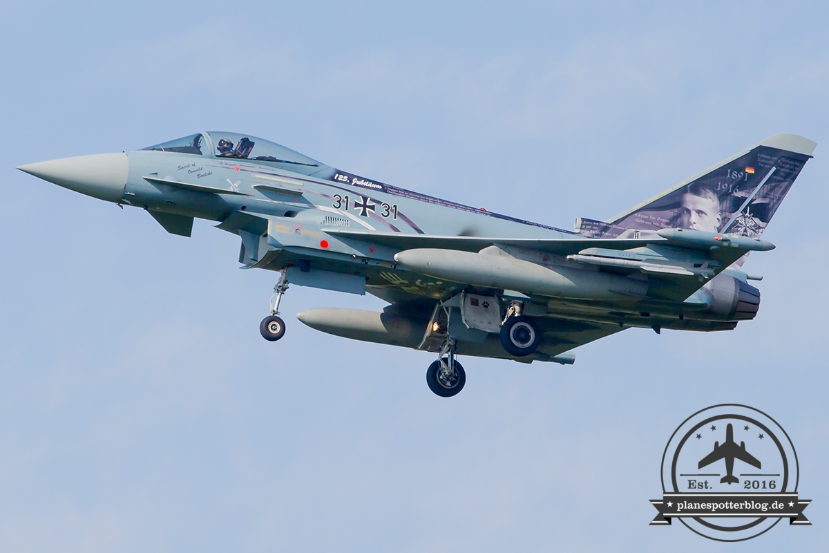 "Frisian Flag 2017 31+31 Eurofighter EF-2000 Typhoon S German Air Force (Luftwaffe) TaktLwG 31 ""Boelcke"""