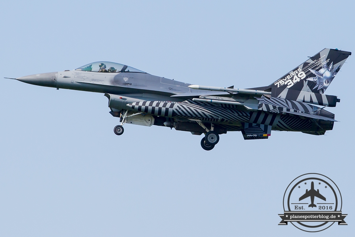 Frisian Flag 2017 FA-70 General Dynamics F-16AM Fighting Falcon Belgian Air Force Kleine Brogel 10 Wing