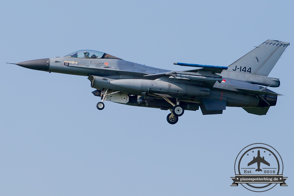 J-144 General Dynamics F-16AM Fighting Falcon Royal Netherlands Air Force Leeuwarden 323Sqn