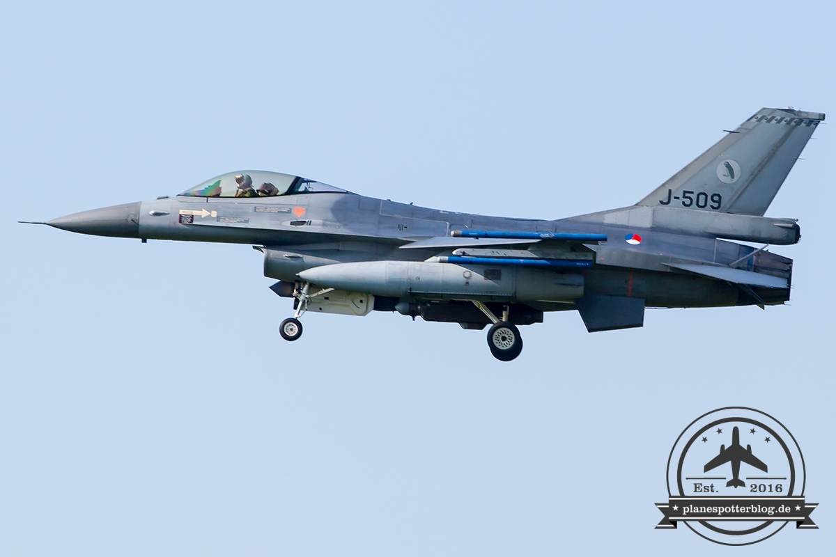 J-509 General Dynamics F-16AM Fighting Falcon Royal Netherlands Air Force Leeuwarden 322Sqn