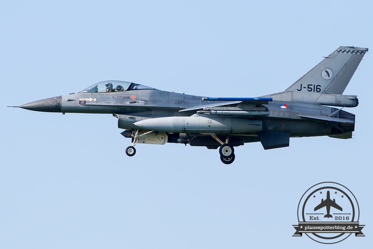 J-516 General Dynamics F-16AM Fighting Falcon Royal Netherlands Air Force Leeuwarden 322Sqn
