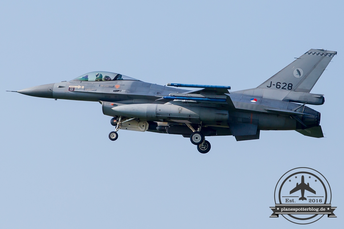 J-628 General Dynamics F-16AM Fighting Falcon Royal Netherlands Air Force Leeuwarden 322Sqn