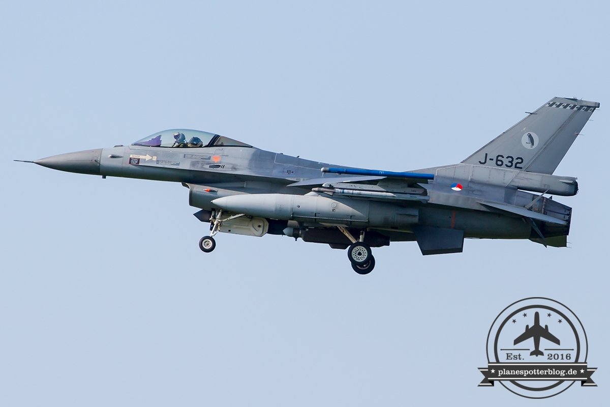 J-632 General Dynamics F-16AM Fighting Falcon Royal Netherlands Air Force Leeuwarden 322Sqn