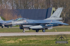 J-063 General Dynamics F-16AM Fighting Falcon Royal Netherlands Air Force Volkel 313 Sqn