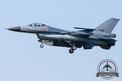 J-135 General Dynamics F-16AM Fighting Falcon Royal Netherlands Air Force Leeuwarden 322Sqn