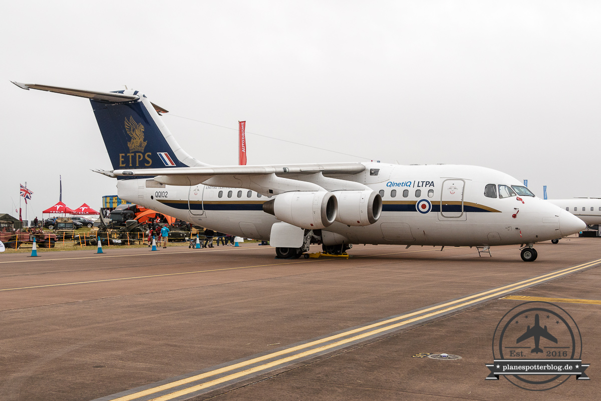 RIAT QinetiQ Avro RJ100 QQ102 ETPS