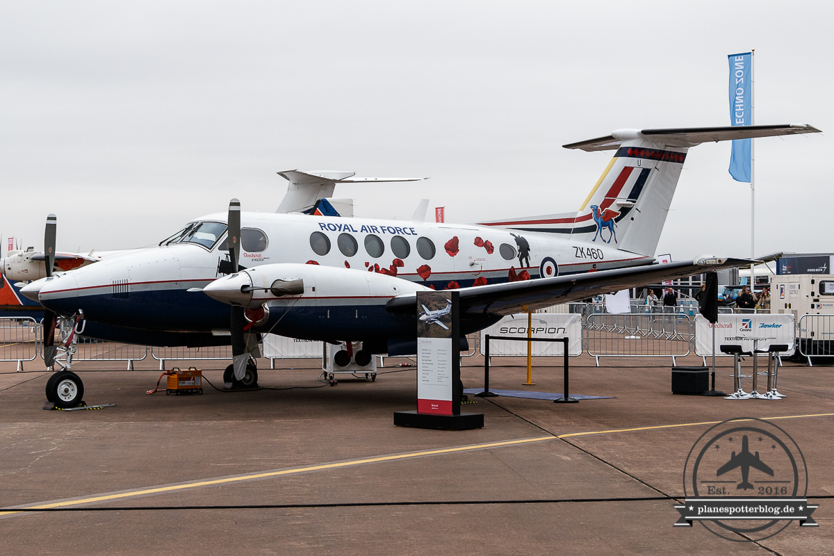 RIAT17 Beech KingAir 200 ZK460/U