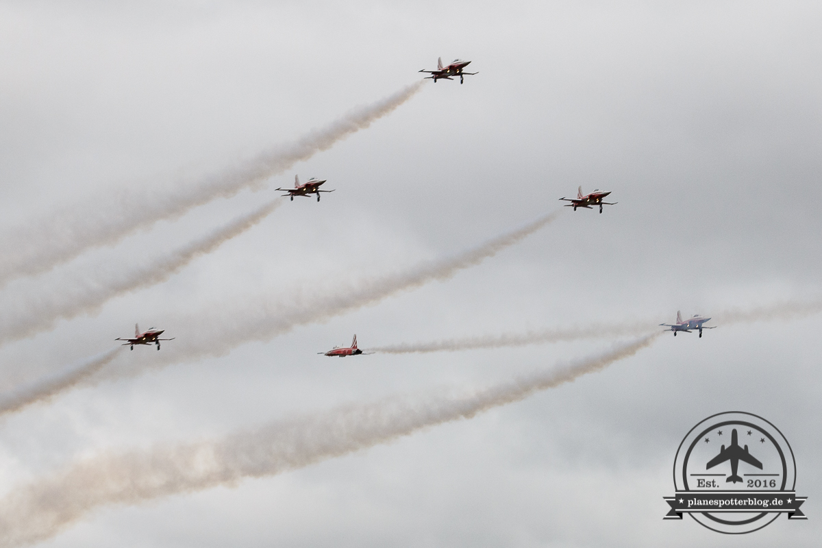 RIAT 2017 Swiss Air Force Patrouille Suisse Display