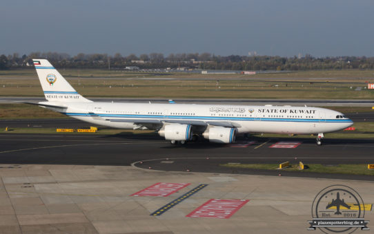 Abflug State of Kuwait und Alitalia unterwegs für AB