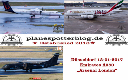 """DUS Freitag der 13-01-2017 Emirates A380 Arsenal London oder die Sache mit """"Egon"""""""