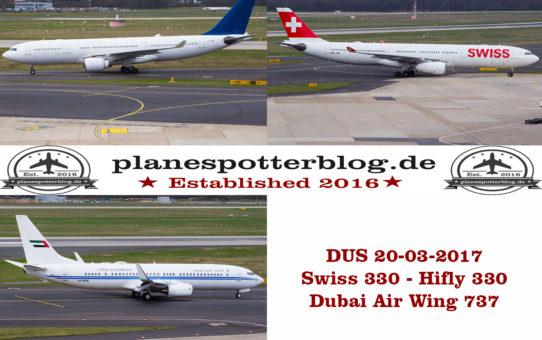 Düsseldorf - DUS - EDDL 20-03-2017 ein paar besondere Gäste und einiges an Sonderlackierungen