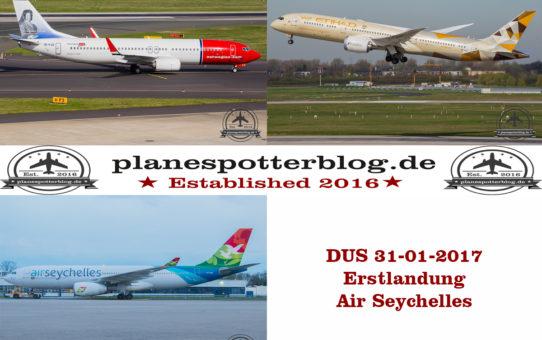 31-03- 2017 Air Seychelles Erstflug in DUS inkl. Vorfeldtour