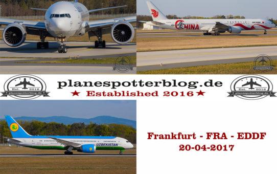 Frankfurt FRA am 20-04-2017